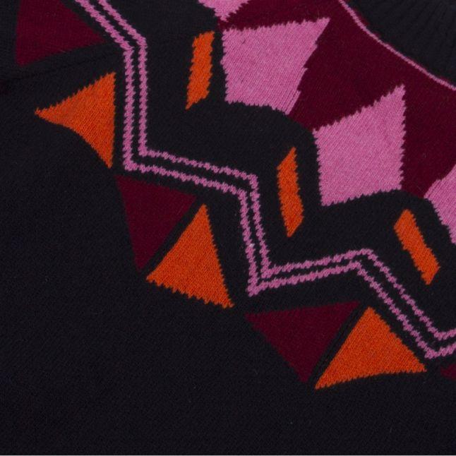 Womens Navy Fairisle Knitted Jumper