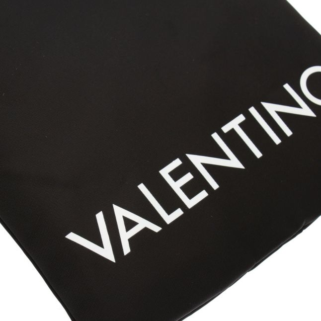 Valentino by Mario Valentino Mens Black Kylo Logo Small Crossbody Bag