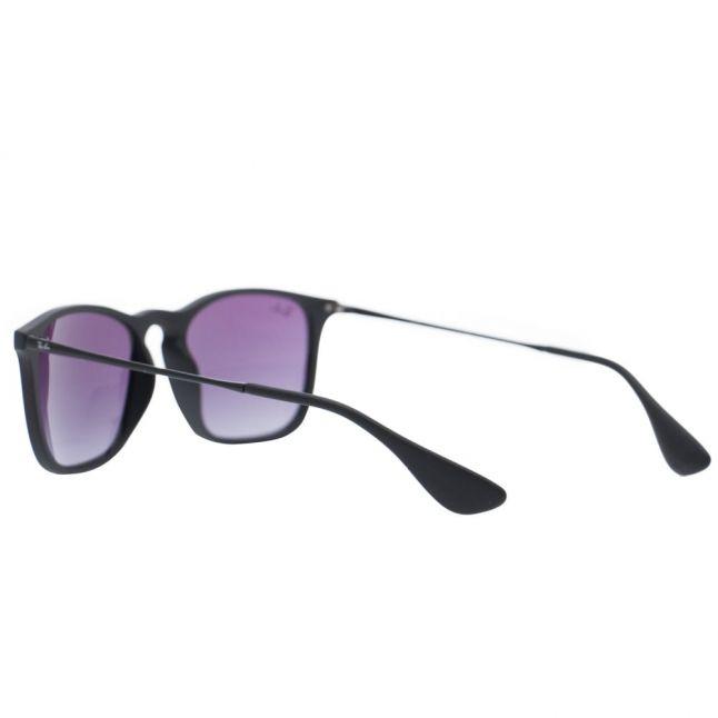 Black/Dark Grey Rubber RB4187 Chris Sunglasses