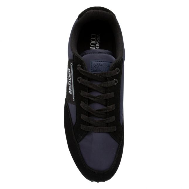 Mens Navy Branded Patch Trainers