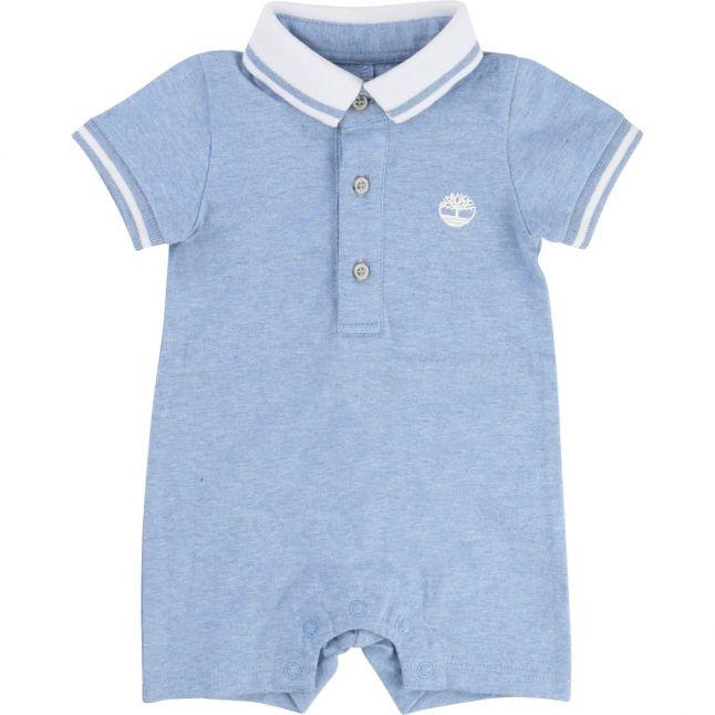 Baby Blue Polo Romper