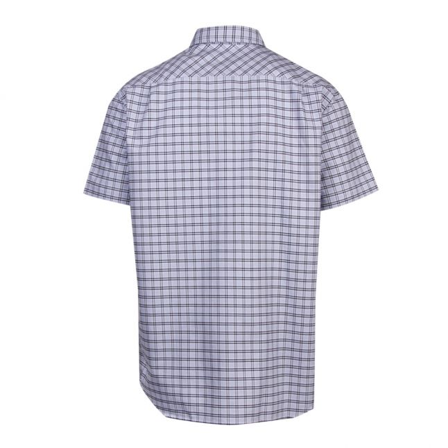 Mens Phoenix Blue/Navy Check Cotton S/s Shirt