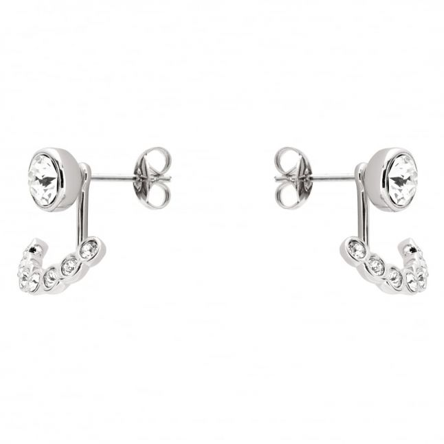 Womens Silver & Clear Crystal Coraline Concentric Crystal Earrings