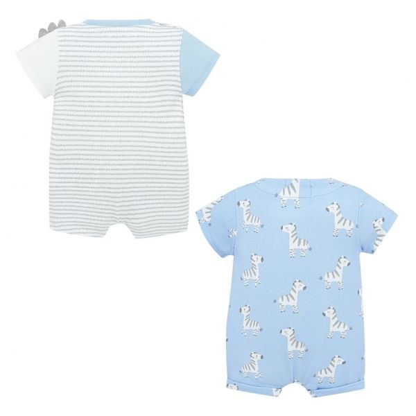 Baby Blue Bay Animal 2 Pack Rompers