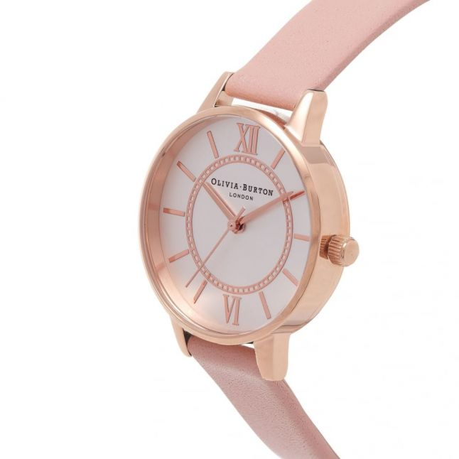 Womens Pink Rose Gold & Silver Wonderland Watch