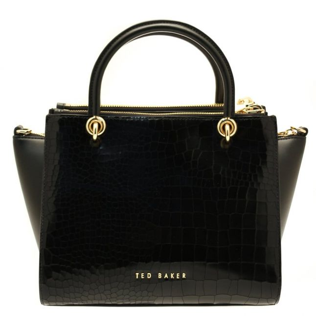 Womens Black Cassie Exotic Zip Detail Tote Bag