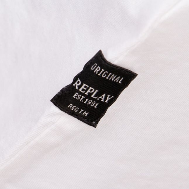 Womens White Open-Back Jersey Vest Top