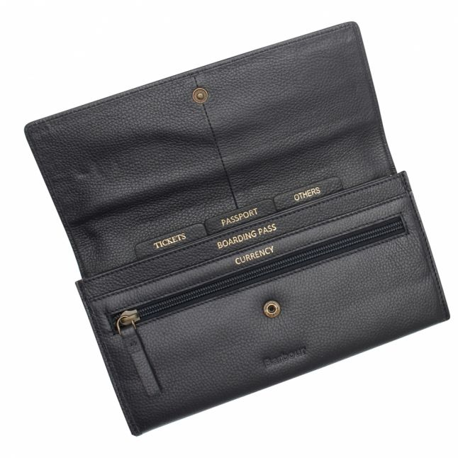 Womens Navy Leather Travel Wallet