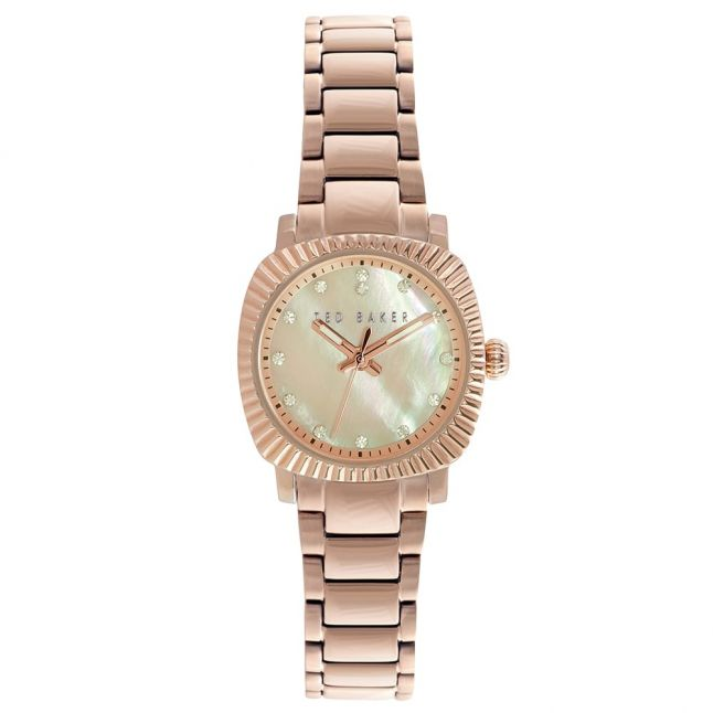 Womens Mother Of Pearl Dial Rose Gold Bracelet Strap Watch