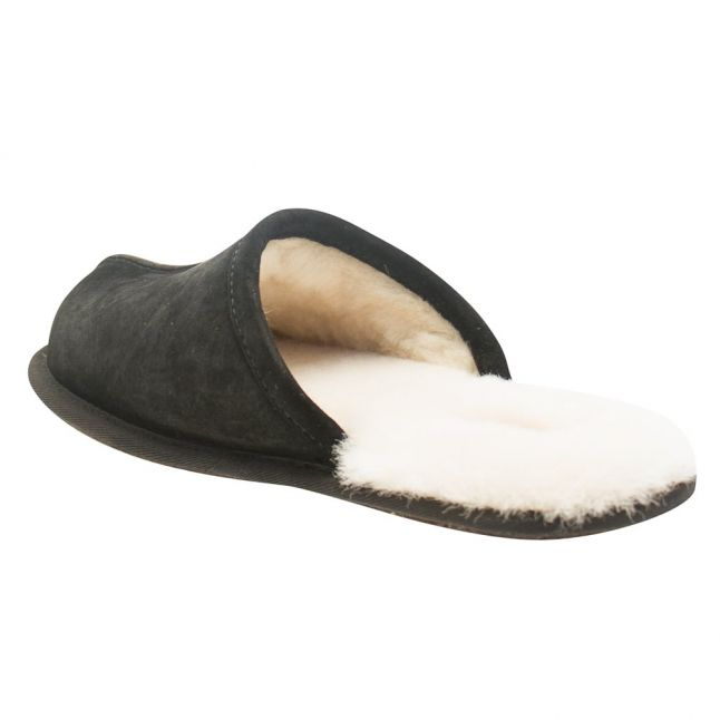 Mens Black Scuff Slippers
