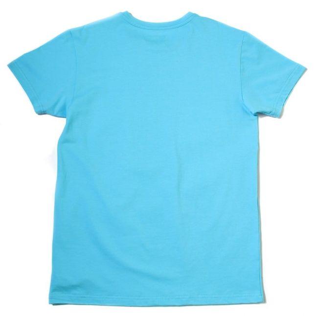 Mens Turquoise Small Logo Crew S/s Tee Shirt