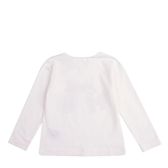 Mayoral Girls Cream Printed Bows L/s T Shirt
