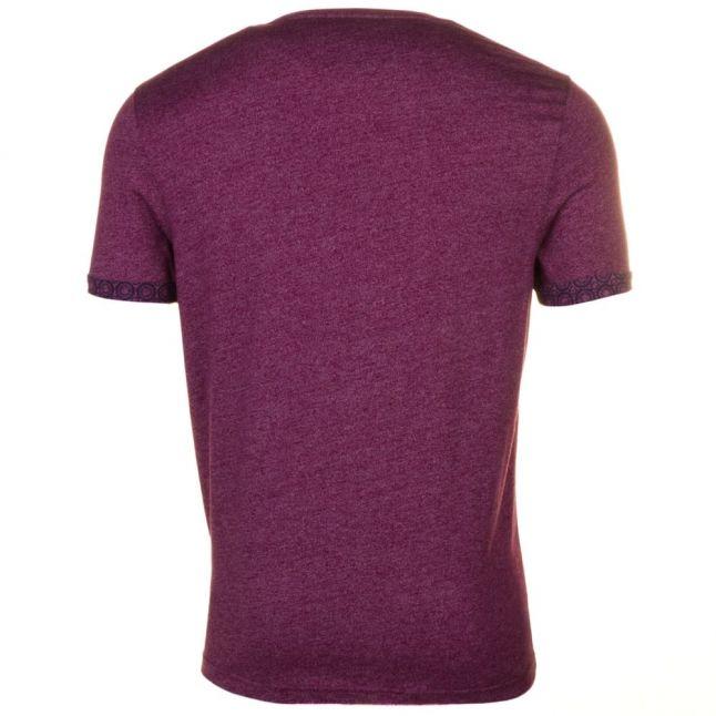 Mens Pink Junior Sleeve Detail Pocket S/s Tee Shirt