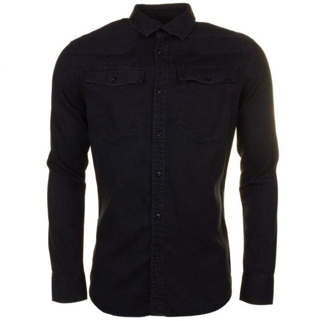 Mens Black 3301 Denim L/s Shirt