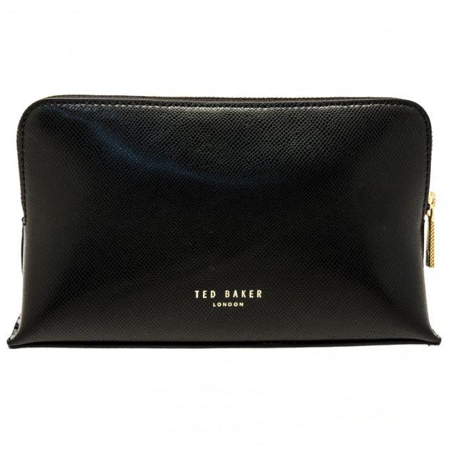 Womens Black Hillda Small Leather Make Up Bag