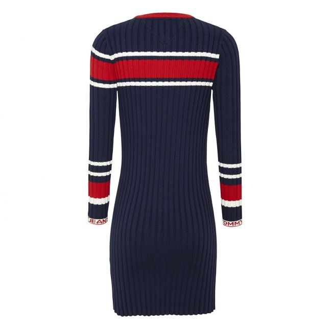 Tommy Jeans Womens Twilight Navy Flag Knitted Dress