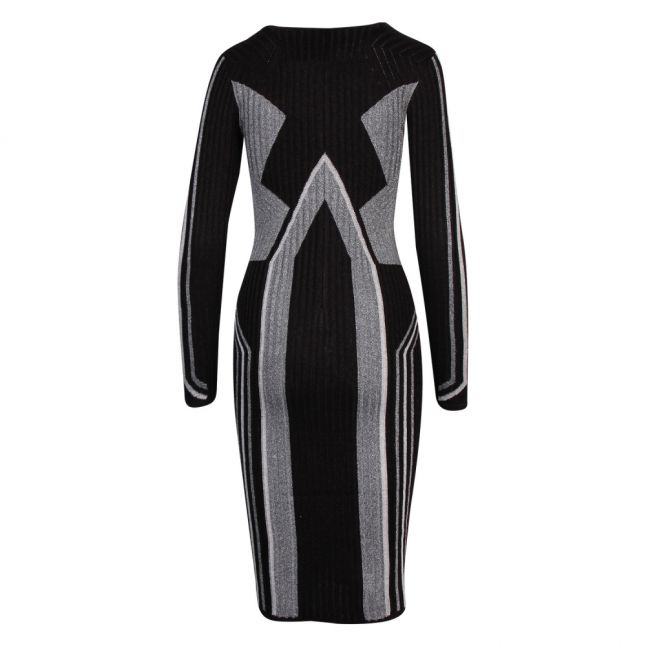 Womens Black Hesiaa Knitted Bodycon Dress
