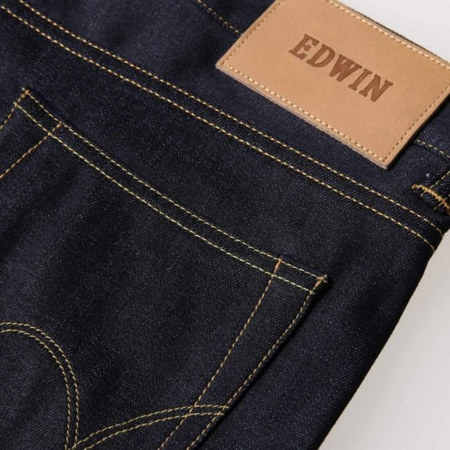 Mens Unwashed ED80 Slim Tapered Fit Deep Blue Jeans