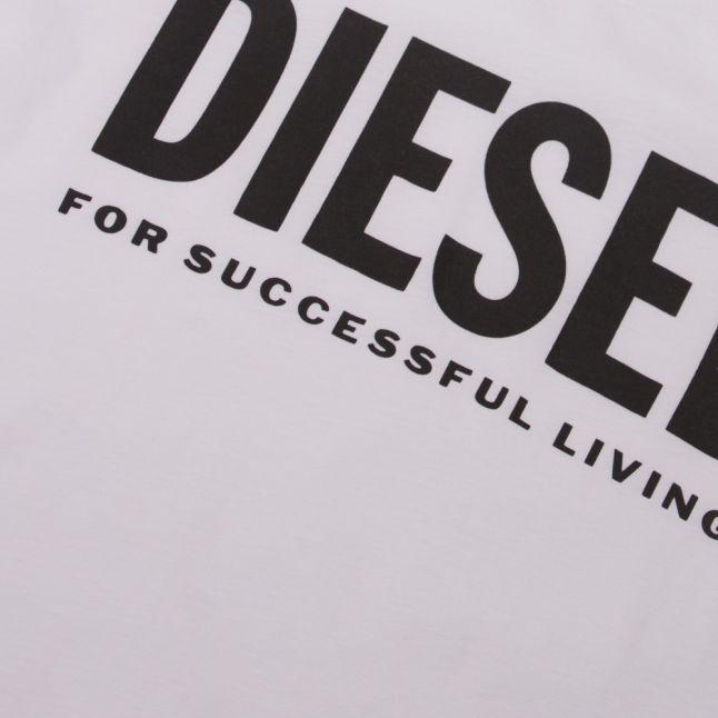 Mens White T-Diego-Logo S/s T Shirt