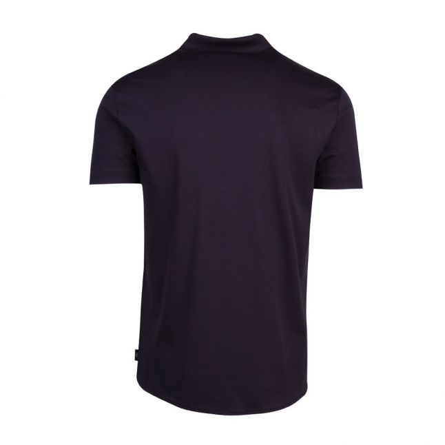 Mens Navy Slim Fit Jersey S/s Shirt