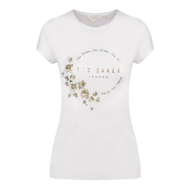 Womens Ivory Salii Pearl Fitted S/s T Shirt