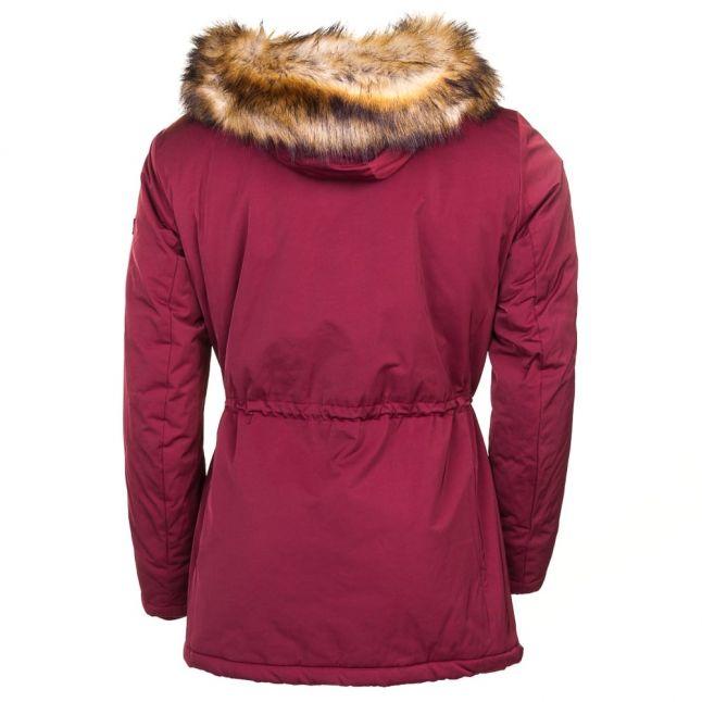 Mens Red Fur Hooded Parka