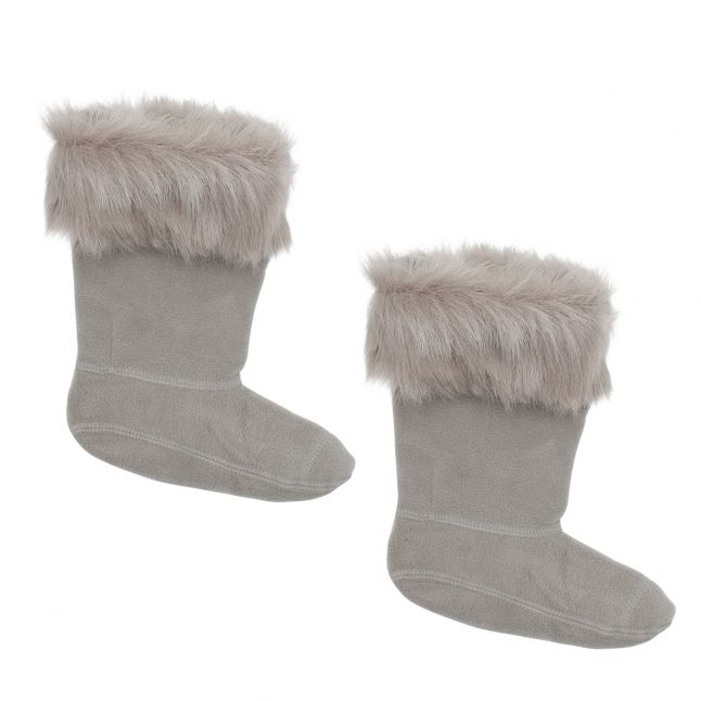 Kids Geysers Faux Fur Boot Socks