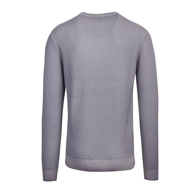 Casual Mens Light Grey Kustorio Crew Knitted Jumper