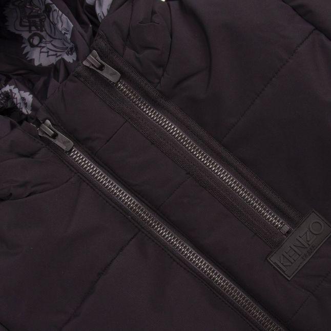 Kenzo Black Keran Bis Padded Hooded Coat