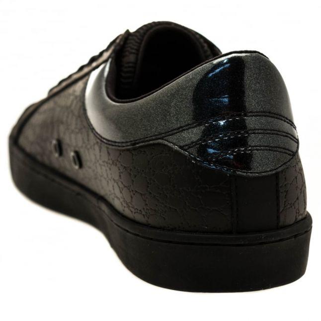 Mens Black Jordi Leather Trainers