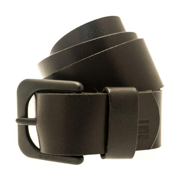 Mens Black Zed Leather Belt