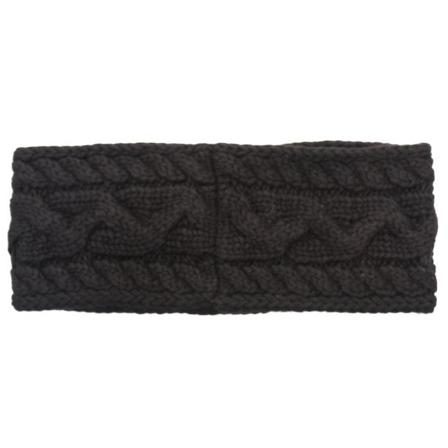 Womens Black Cable Knitted Headband