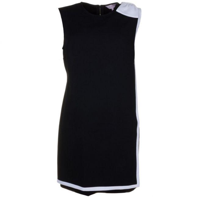 Womens Black Elija Double Layer Bow Dress