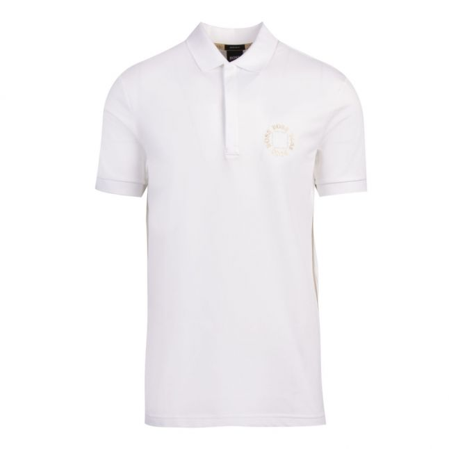 Athleisure Mens White Paddy 8 Circle Regular Fit S/s Polo Shirt