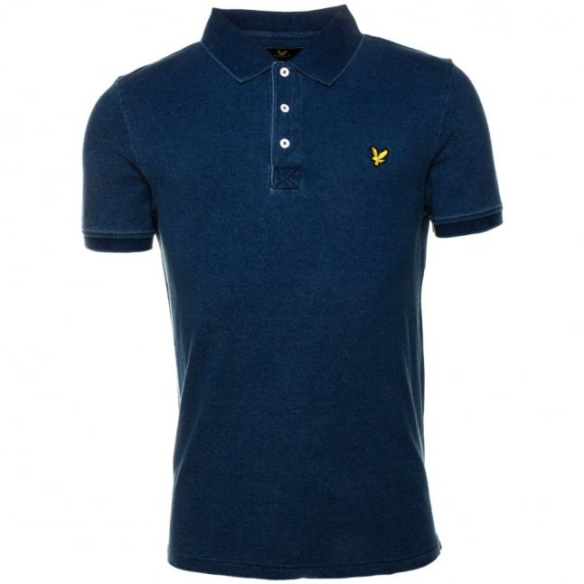 Mens Light Indigo S/s Polo Shirt