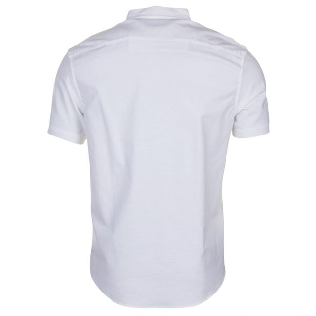 Mens Bright White Oxford Fit S/s Shirt