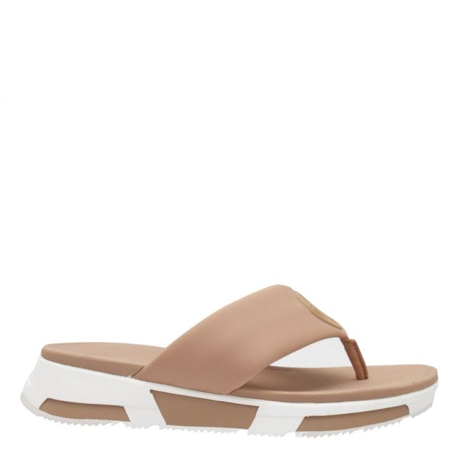Womens Blush Sporty Logo Toe Post Sandals