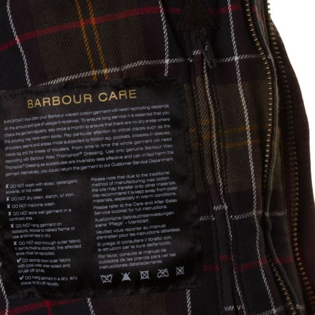 Lifestyle Womens Burgundy Classic Beadnell Waxed Jacket