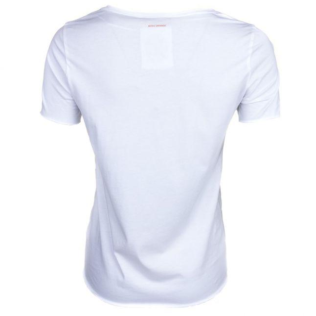 Womens White Graphic Print S/s Tee Shirt