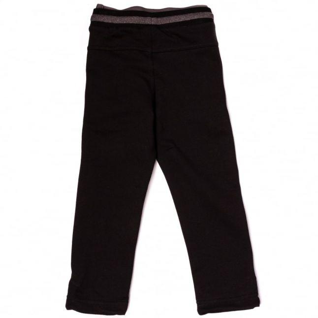 Boys Black Branded Trim Jog Pants