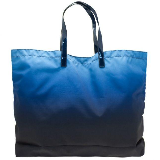 Womens Blue Foldaway Shopper Bag