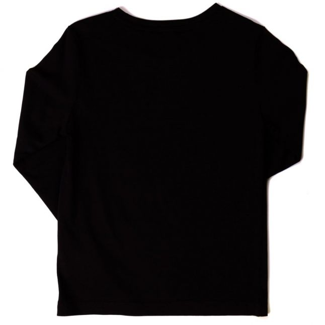 Boys Black Karl Head L/s Tee Shirt