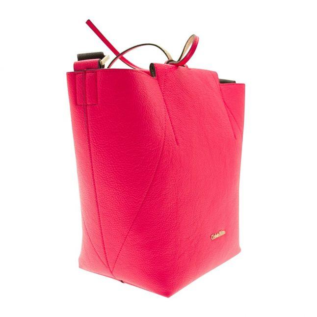 Womens Bright Rose Isa Metalic Reverse Bucket
