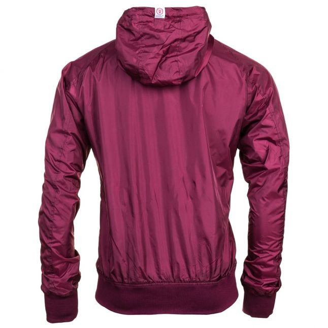 Mens Bordeaux Small Logo Hooded Jacket
