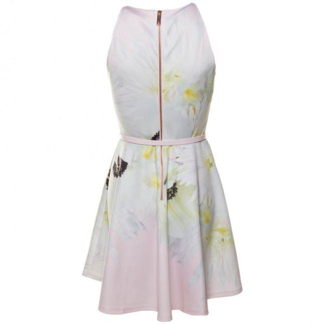 Womens Nude Pink Tuliaa Pearly Petal Skater Dress