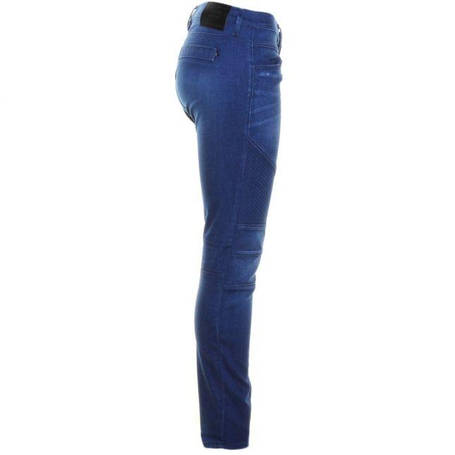 Womens Blue Winaryde Biker Skinny Fit Jeans