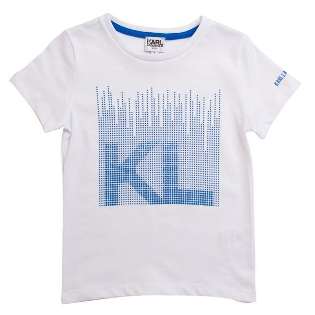 Karl Lagerfeld Boys Blanc White S/s Tee Shirt