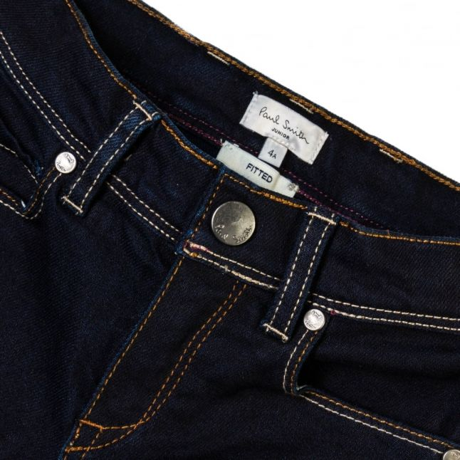 Boys Indigo Wash Manson Fitted Jeans