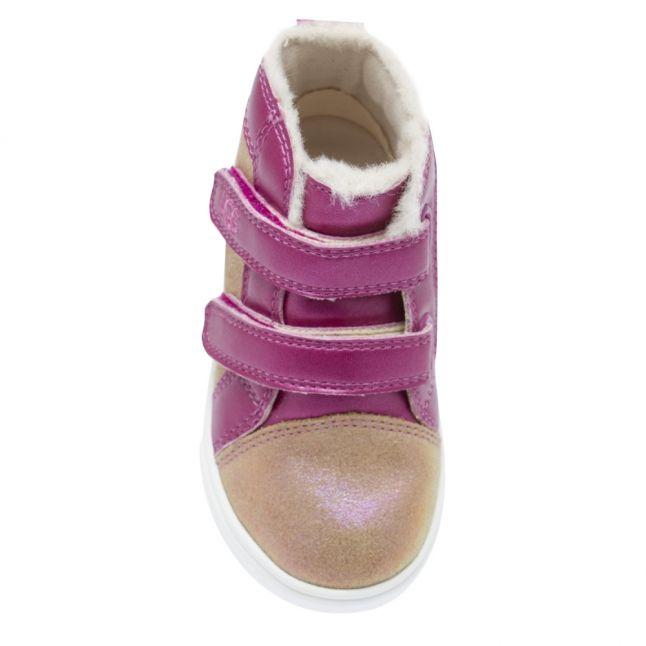 Toddler Chestnut/Fuschia Rennon II Shimmer Trainers (5-11)