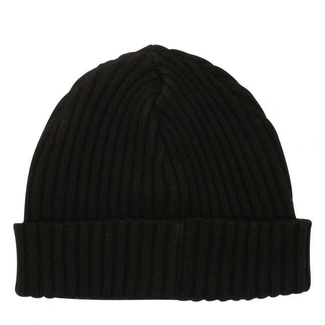 Mens Black Branded Knitted Hat